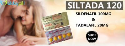 The vast majority who utilized Siltada 120mg accomplished better and longer sensual experiences unafraid of losing an erection. This medicine is commonly utilized for the treatment of erectile brokenness. This medication allows clients to accomplish an extraordinary and stable erection and, in the meantime, draws out the erotic demonstration, which makes this medicine the fundamental complete reaction for amazing arousing intercourse. Buy siltada 120mg online from alldaypill.com to treat sensual issues. Know More How to Use Sildenafil https://bit.ly/2mwCxMc