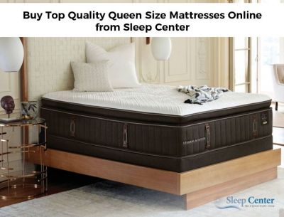 At Sleep Center, we provide a wide range of queen size mattresses of brands such as Stearns & Foster, Beautyrest Silver & More at unbeatable prices.