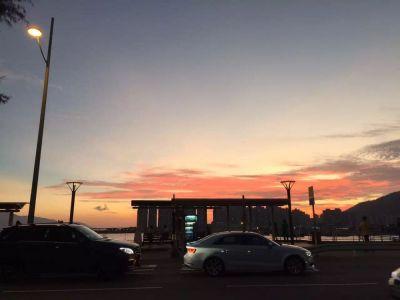 青山灣的傍晚